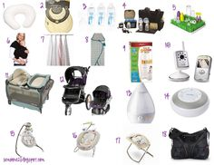 Baby registry must-needs! Can't wait to find out the gender and build the registry. :)