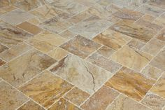 Travertine Tile - Antique Pattern Sets - Scabos Standard / Antique Pattern / Brushed, Chiseled, and Partially Filled