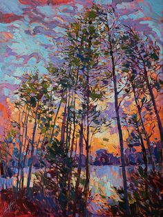The Woodlands Texas Painting - Woodland Rythms by Erin Hanson