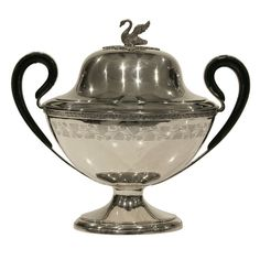 Silver Empire Tureen with Swan
