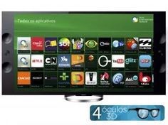 "Smart TV LED 3D 65"" Sony X905 4k/Ultra HD - Conversor Integrado 4 HDMI 3 USB Wi-Fi 4 Óculos"
