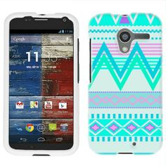 Amazon.com: Motorola Moto X Aztec Andes Tribal White and Teal Pattern Phone Case Cover: Cell Phones & Accessories