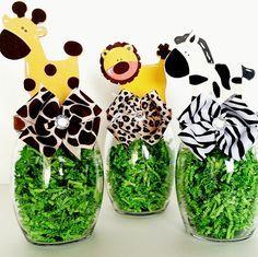 Safari fiesta centros de mesa decoraciones por LilLoveBugsCreations