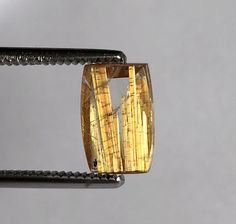 Gemma Qurzo with gold yellow rutile, flat cut and polished to highlight the gold yellow rutile, rectangular and well-proportioned shape. Gemma, Yellow, Bracelets, Jewelry, Gold, Jewels, Schmuck, Jewerly, Bracelet