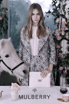 Cara Delevingne by Tim Walker | Mulberry Spring/Summer 2014 Ad Campaign.