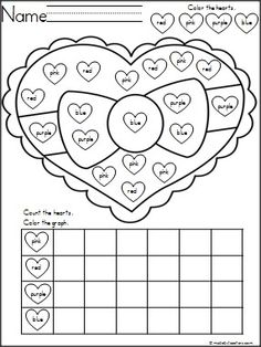 This is a FREE heart color graphing activity. Students practice color word recognition, coloring, and graphing with this activity.