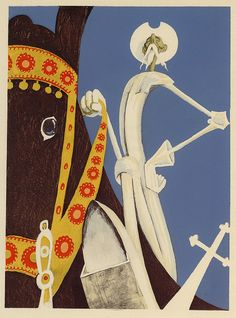 Albert Dubout, illus. for L'Ingenieux Hidalgo Don Quichotte de la Manche, 1938. Via A Journey Round My Skull on flickr