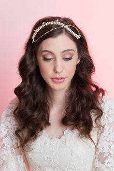 Swarovski Crystals Halo  Pearls and Crystals Bridal Headband