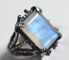 Hecate. Sterling silver & Moonstone Persephone ring. – Blood Milk Jewels