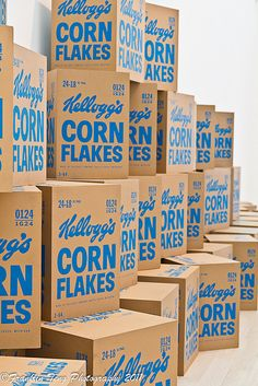 Andy Warhol: Kellogg's Corn Flakes boxes  From LACMA