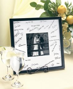 Signature Frame--It will be a meaningful display in your home after the wedding.
