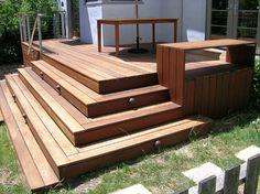 corner steps for front porch, but miter 45 edge...buzzs deck - modern - porch - san francisco - Winslow Architecture & Urban Design