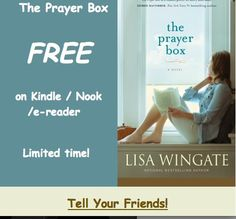 The Prayer Box FREE e-book through July 16, 2014. Best-selling resort book, an Okra Pick. Send Pin to friends and post it for your followers.