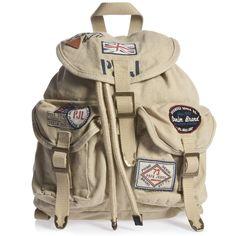 PEPE JEANS - Beige Canvas Back Pack - Boy | Childrensalon