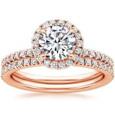 14K Rose Gold Waverly Diamond Matched Set (3/4 ct. tw.) from Brilliant Earth