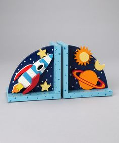 Take a look at this Rocket Bookends by Sassafras on #zulily today!