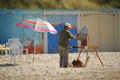 Kunst op het strand bij Domburg