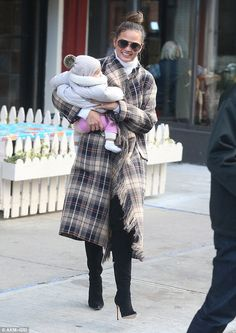Check into Chrissy's style with her Chloe coat #DailyMail  Click 'Visit' to buy now