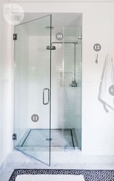 A hotel-chic shower