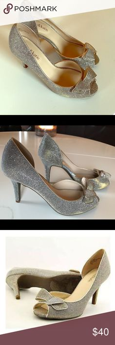 Katie & Ally glitter peep toe pump Glittered Peep toe pump - Sold out at DSW - looks great on! Never worn. Katie & Ally Shoes Heels