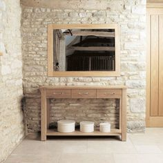 This Oak Wall Mirror Is Made Of Solid Oak. Suitable For Any Room In The  House. This Oak Furniture Is A Must For Your Home.