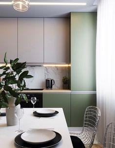 Home Interior Design Luxury Kitchen Design, Kitchen Room Design, Interior Design Kitchen, Kitchen Decor, Pastel Interior, Cuisines Design, Küchen Design, Apartment Interior, Home Kitchens