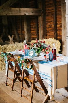 Fourth of July Wedding Inspiration/tablescape