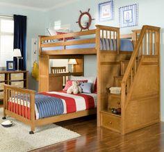 W marynarskim stylu    #stylmarynarski #łóżkapiętrowe #DecoArt24
