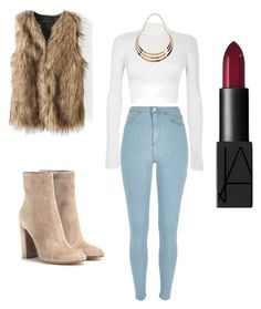 """""""#outfit #fall #winter #furvest"""" by desthend on Polyvore featuring WearAll, River Island, Gianvito Rossi and NARS Cosmetics"""
