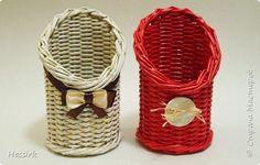 Поделка изделие Плетение Январь-февраль Трубочки бумажные фото 7
