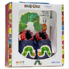 Robeez Soft Soles - Eric Carle Caterpillar Gift Set w/ Book - Navy Hungry Caterpillar Nursery, Very Hungry Caterpillar, First Birthday Parties, First Birthdays, Birthday Ideas, Bear Party, Baby Boy Shoes, Eric Carle, Kids Corner
