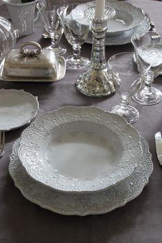BLANC D'IVOIREスープ皿ANAIS ~サラグレース~ Blanc d'Ivoire Rim Soup