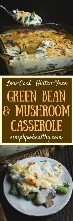 This delicious Low-Carb Green Bean and Mushroom Casserole recipe is perfect for the holidays! It can be a part of a low-carb, LC/HF, keto,. Low Carb Keto, Low Carb Recipes, Diet Recipes, Healthy Recipes, Keto Carbs, Primal Recipes, Recipes Dinner, Diabetic Recipes, Pork Recipes