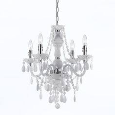 White 4 Light Mini Chandelier