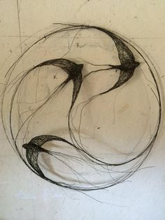 "celia smith op Twitter: ""Delivered new sculptures to the @devonguild today including this circle of swifts. http://t.co/AyHr9Q3uHL"""