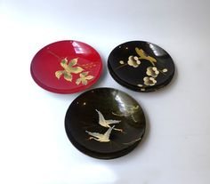 Vintage collection of 1960s Japanese lacquer and by evaelena