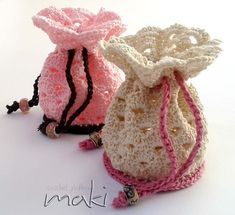 Crochet pattern - Pouch bag crochet pattern! Permission to sell finished items. Pattern No. 152 MakiCrochet 4.00 USD October 16 2015 at 12:10PM