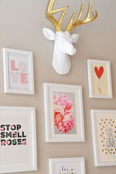 We are loving the way that one of our clients has used The MINI Alfred to decorate this affordable gallery wall! He looks great! how to afford a baby #baby #babies