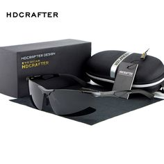 HDCRAFTER Polarized Rimless Sunglasses men luxury brand Sun Glasses DrivingGlasses oculos de sol masculino shades E300 //Price: $38.67 & FREE Shipping //     #WallArt
