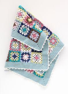 @ Cafenohut: Pretty Baby Blanket - made with DMC Woolly yarn