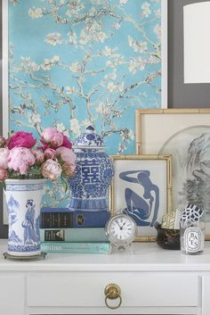 Modern Chinoserie Chic Bedroom via Bliss at Home