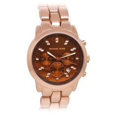 Michael Kors Watch In Brown & Rose Gold