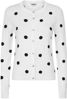 Love this: Polka Dot Cardigan @Lyst MOSCHINO CHEAP  CHIC