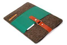 Tasche für Notebook13″★ Filz&Leder mit 2 Fächer!