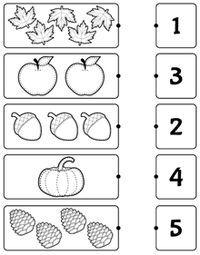 Kindergarten worksheets - Count and match Nursery Worksheets, Printable Preschool Worksheets, Kindergarten Math Worksheets, Worksheets For Kids, Sequencing Worksheets, Preschool Writing, Numbers Preschool, Preschool Learning Activities, Free Preschool