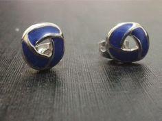 aros péqueños azul $3500 año de plata