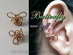 (10) Simple butterfly ear cuff - handcrafted copper jewelry 348 - YouTube