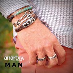 Trendy men  #anartxy #JoyasEnAcero #JóiasEmAço #SteelJewel #BijouxEnAcier #estilo #man #trend #acero #moda #fashion #pulsera #bracelet #ring #anillo #blog