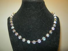 Pearlstyle necklace with purple beads 18 inches by carebear1984, $10.00
