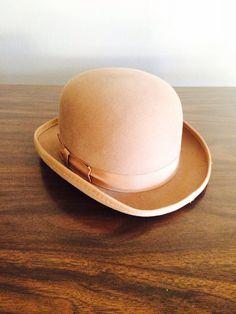Vintage Derby Bowler Hat by LitterandVintage on Etsy, $65.00